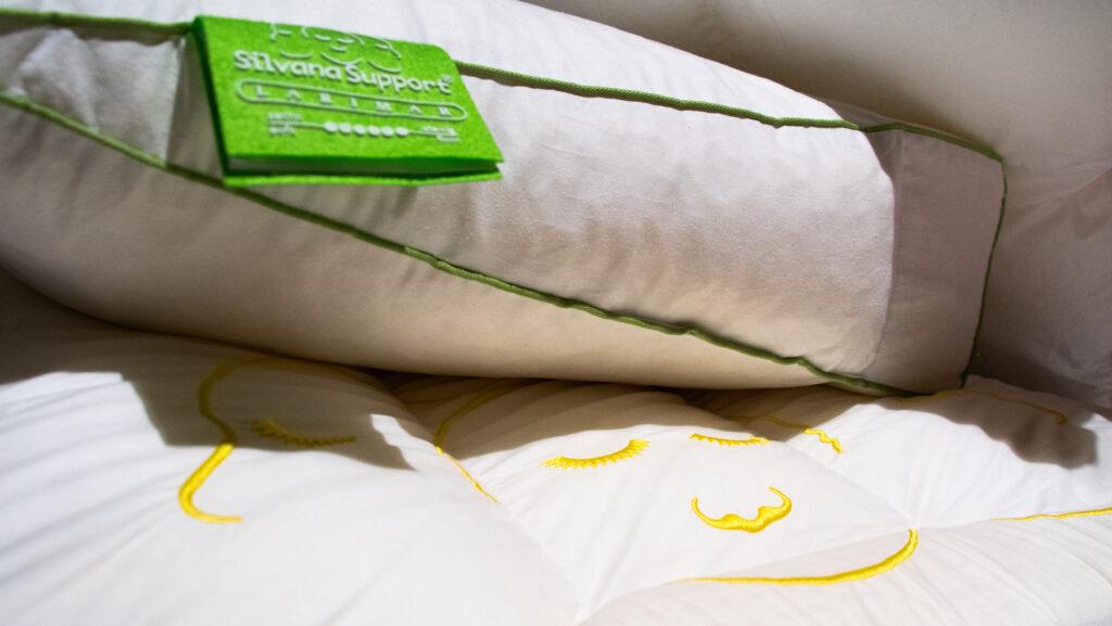 silvana support hoofdkussen geel en groen